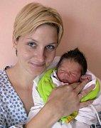 Marek Hruban s maminkou Martinou, Olšany u Prostějova, narozen 9. listopadu, 48 cm, 3350 g