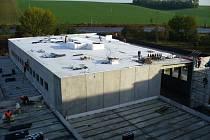 Výstavba nové multifunkční haly v Němčicích nad Hanou. Ilustrační foto
