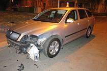 Nehoda ve Slovenské ulici v Prostějově
