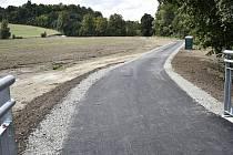 Poslední dokončená část cyklostezky spojující Plumlov s Mostkovicemi podél přehradní nádrže. 16.9. 2021