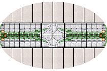 Nacisty zazděná vitráž Městkého divadla bude obnovena na podzim.