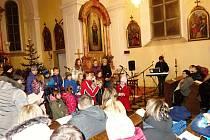 Dětská besídka vkostele sv. Michaela ve Vrchoslavicích
