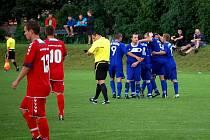 1. FK Prostějov (v modrém)