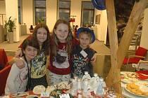 Na vánočním jarmarku byla možnost zakoupit nejrůznější vánoční dekorace a dobroty