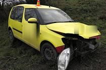 Nehoda škodovky na R46
