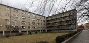 """Dům známý jako """"parlament"""" na ulici Šárka v Prostějově."""