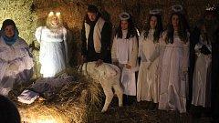 Živý betlém na Zlaté farmě u Štětovic