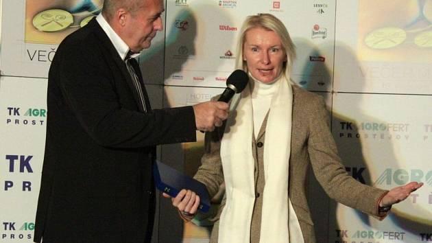 Jana Novotná na tenisovém Večeru mistrů v Prostějově v roce 2013