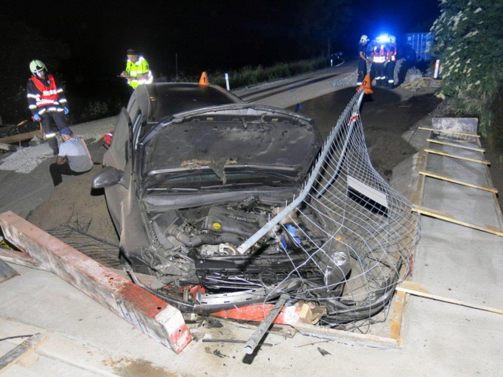 Nehoda opelu u Hrubčic