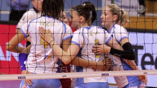 Volejbalistky Prostějova v semifinále proti Olympu