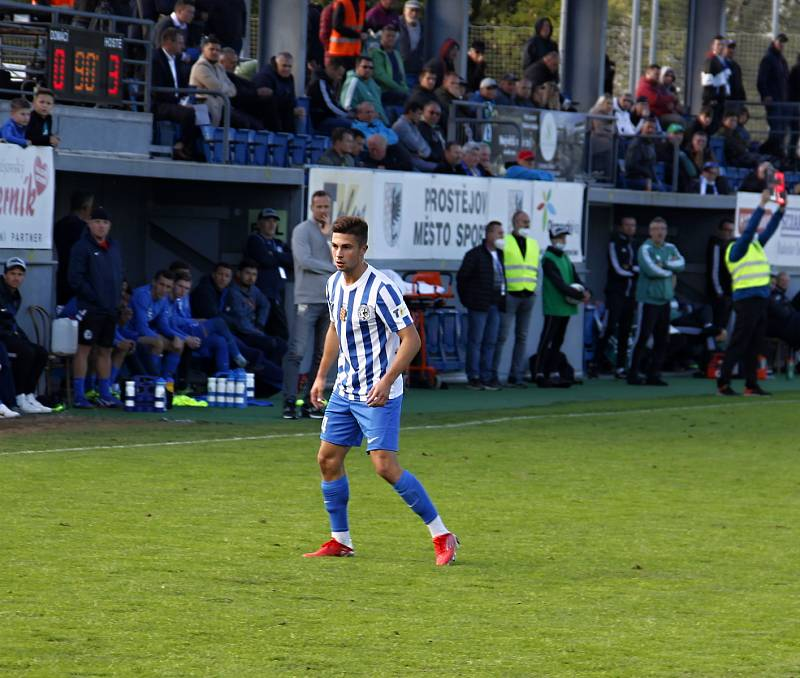 Prostějov prohrál ve 3. kole poháru doma s Bohemians 0:4. Martin Vlachovský