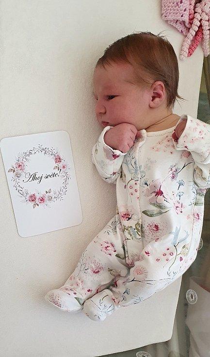 Ellen Hynková, Přerov, narozena 29. března 2021 v Přerově, míra 52 cm, váha 3840 g