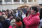 Koncert Milana Peroutky na velikonočních trzích na prostějovském náměstí