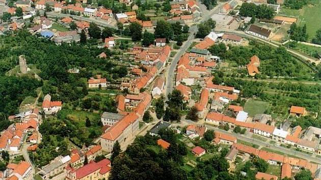 Otaslavice - letecký snímek