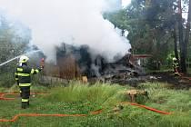 Požár chat na Záhoří