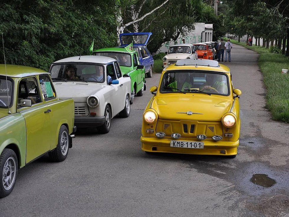 Sraz trabantů v Plumlově