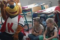 Maskot zdravé školy na ZŠ Horáka v Prostějově