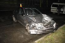 Šofér po nehodě utekl.