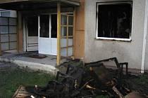Požár nábytku v kočárkárně ve Finské ulici v Prostějově