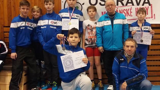 Mladí prostějovští zápasníci v Ostravě kralovali
