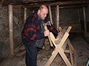 Výstavba umělé hornické štoly v drahanském muzeu