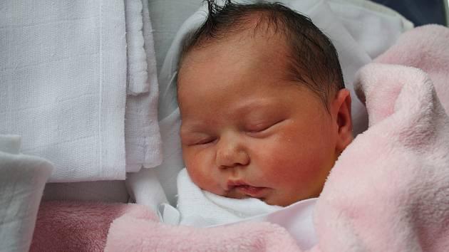 Marie Vyklická, Mostkovice, narozena 20. února, míra 48 cm, váha 3 350 g