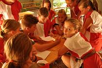 Děti z Němčicka prožily na táborové základně v Kladkách-Bělé nezapomenutelný týden.