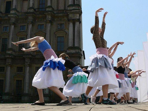 Tanečnice na workshopu