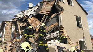 Tragický výbuch v rodinném domě v Mostkovicích