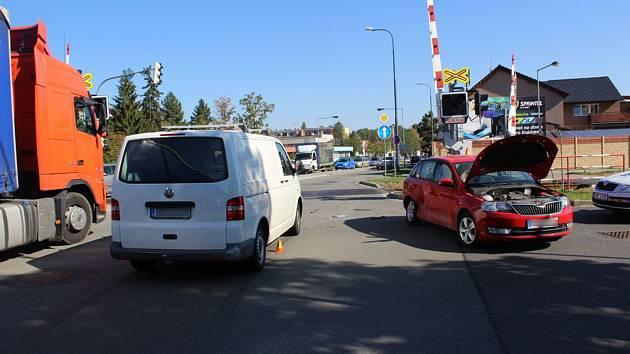 Nehoda v Olomoucké ulici v Prostějově