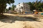 Stavba krajského policejního rekreačního a školícího střediska u plumlovské přehrady - 17. července 2020