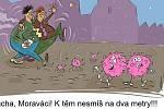 """Kreslený vtip na """"koronavirové"""" téma od prostějovského humoristy Jana Tatarky"""
