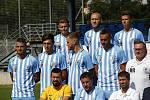 Týmové focení fotbalistů Prostějova před startem sezony.