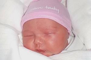 Julie Vysloužilová, Prostějov, narozena 3. května 2021 v Prostějov, míra 48 cm, váha 3250 g