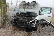 Nehoda mezi Studencem a Olšany u Prostějova