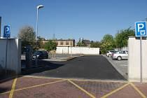 Nové parkoviště na Plumlovské ulici za Kubusem
