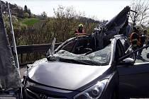Nehoda na D46 u Držovic 19. dubna 2019