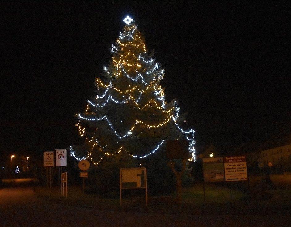 Vánoční strom 2020 ve Vícově