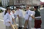 Hrkači z Klasu na prostějovském náměstí