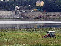 Revitalizace plumlovské přehrady - konec srpna 2013
