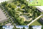 STROMY A VODA. Vizualizace nového parku vypadá zajímavě.
