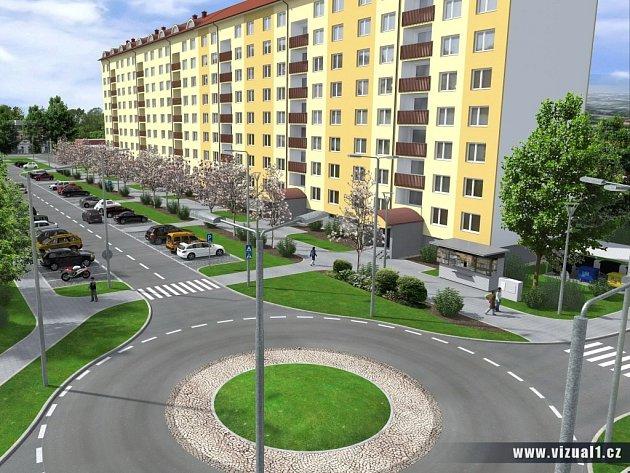 Původní vizualizace revitalizace Tylovy ulice
