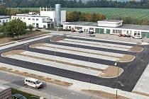 Nové parkoviště u prostějovské nemocnice
