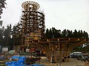 Stavba rozhledny na Kosíři - 1. června 2013