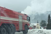 Požár v kotelně rodinného domu ve Služíně