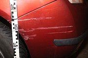 Následky nehody v Okružní ulici v Prostějově