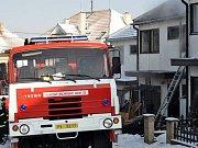 Požár okálu v Konici