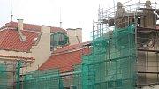 Opravy Národního domu v Prostějově. Rekonstrukční práce se přesunuly na střechu. 20.5. 2019