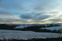 Horní Štěpánov a okolí, 18.01.2012, foceno z Labutického kopce směrem k Lipové