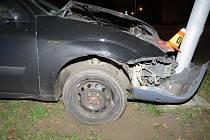 Nehoda fordu v Kostelecké ulici v Prostějově